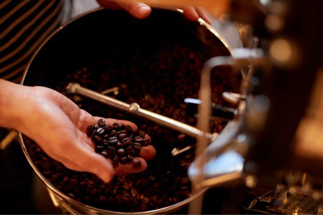 背景:コーヒー豆